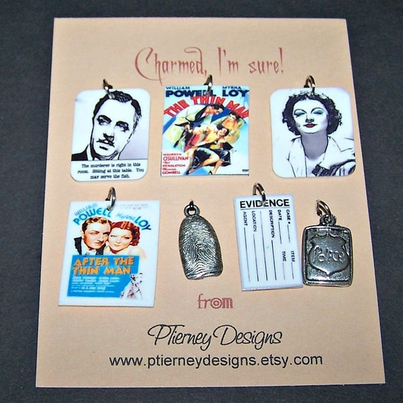 The Thin Man Mystery Charm Set