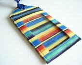 Fabric Luggage Tag - Bight Stripe