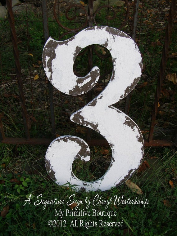 Large Wooden CUT OUT NUMBER 3 | Baby's 3rd Birthday | Photo Props | Birthday Party Decorations | Birthday Cards | Guest Book | Distressed