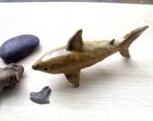 Stoneware Sand Shark Sculpture