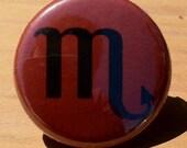 Scorpio Zodiac sign - button, magnet, or bottle opener