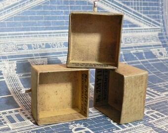 3pcs VINTAGE NICHO CHARM Watch Parts Box
