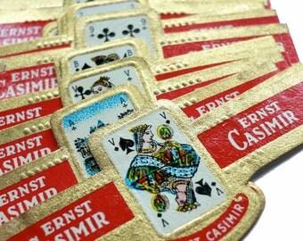 5pcs PLAYING CARD BANDS Vintage 1960s Cigar Ephemera