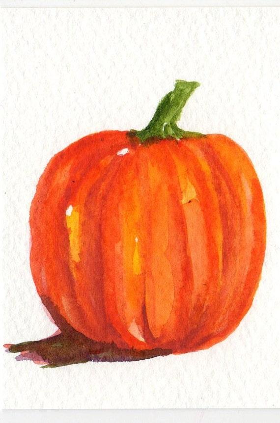 Pumpkin  ACEO Original Painting