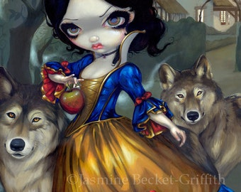 Loup-Garou: Blanche Neige snow white werewolf fairy art print by Jasmine Becket-Griffith12x16 BIG