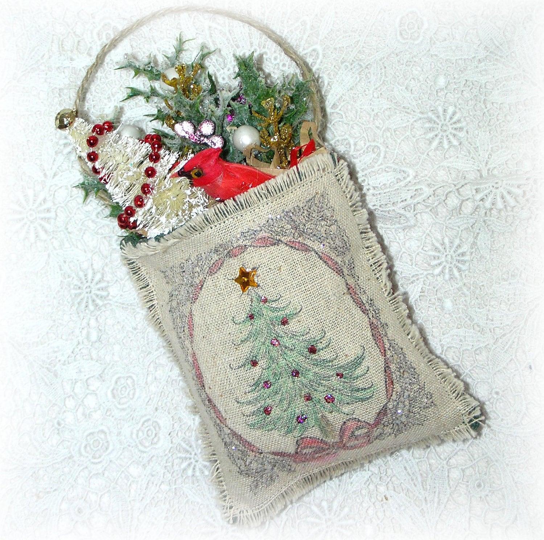 Christmas Tree Ornaments Etsy: Christmas Tree Ornament Red Cardinal Bird Hanging Decoration