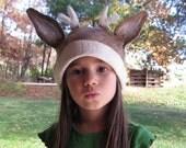 Deer Hat  /  Animal Kid Hat - Felted Wool Hat