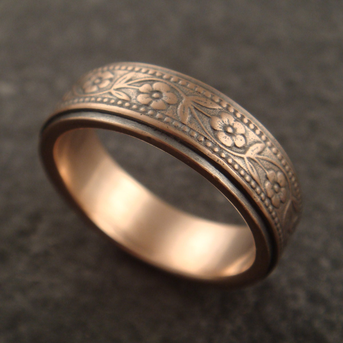 Rose Gold Wedding Band Womens Wedding Band By DownToTheWireDesigns