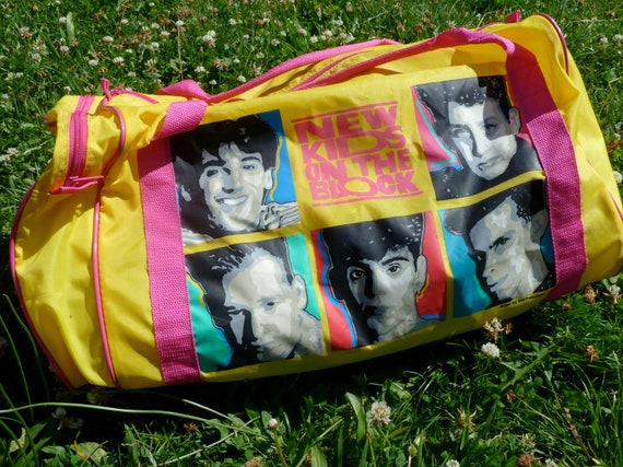 Huge NEW KIDS On The BLOCK 1990 Nylon Gym Tote Bag
