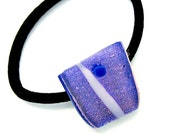 Fused Glass Pony Tail Holder or Purple Dichroic Bracelet