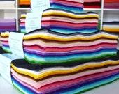 "12"" Premium Wool Blend Felt rainbow stack"