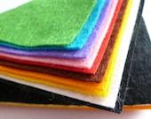 "BASICS Premium Wool Blend Felt Pack 10x 12"" squares"