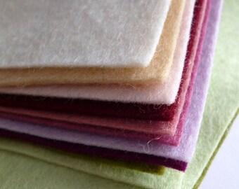 "MUTED Premium Wool Blend Felt Pack 10x 12"" squares"