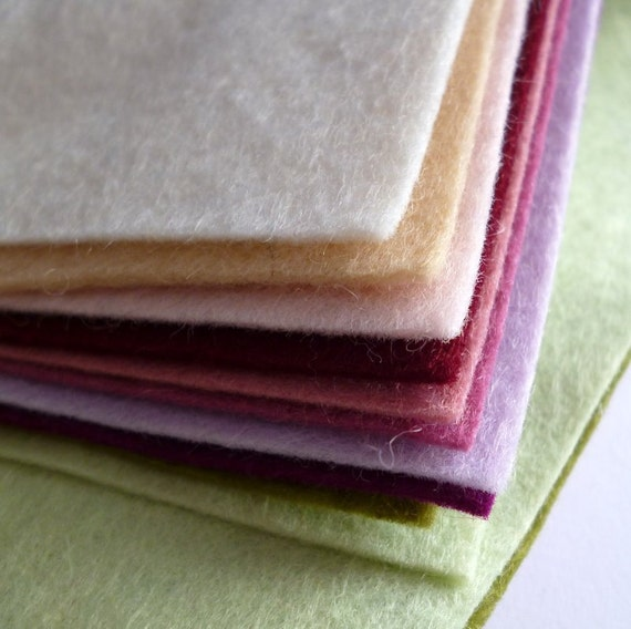 "MUTED Premium Wool Blend Felt Pack 10x 12"" squares"