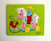 1960s wooden Playschool Toy Horse puzzle