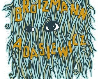 Peter Brotzmann - original screenprinted gigposter