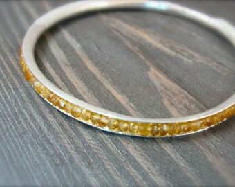 citrine skinny bangle