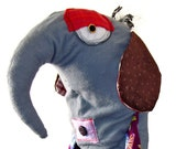 ROGER - one of a kind plushdoll monster elephant