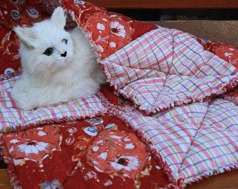 Cat Blanket, Pet Blanket, Cat Quilt, Blanket For Cats, Pet Beds, Pet Mat, Luxury Cat Bed, Small Dog Bed, Fabric Pet Bed, Catnip Blanket