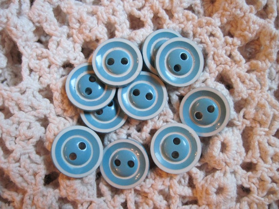 vintage buttons 10 blue candies