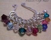 Birthstone Crystal Charm - White Pearl Charm - Madison Craft Studio A La Carte