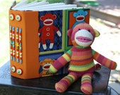 SOCK MONKEY Blank Art Journal Sketch Book