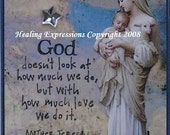 GODS LOVE altered art card therapy recovery collage christian lamb child ATC PrINTAcEO