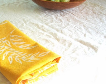 yellow wheat floursack towel
