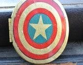 Captain America Inspired Shield Locket