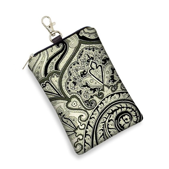 SALE  iPhone 5 Case iPhone 5 Cover Cute Cell Phone Case iPhone 4 iPhone 4s Case - Vintage Paisley fabric black white gray (RTS)