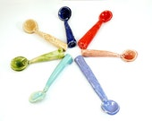 Ceramic spoon for salt, sugar, spices - handmade teaspoon - ready to ship in your choice of color