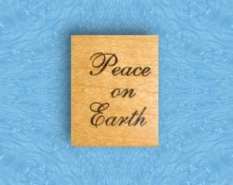 PEACE on EARTH, mounted Christmas rubber stamp, DIY gift tags & Christmas cards stamp, Sweet Grass Stamps No.7