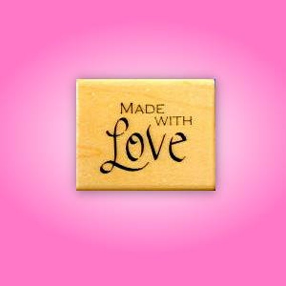 Made With Love Mounted rubber stamp No.15