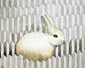 White Rabbit - Chloe - Print of original illustration