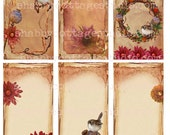 INSTANT DOWNLOAD Florals Tags Digital Florals-Wren-Wreath