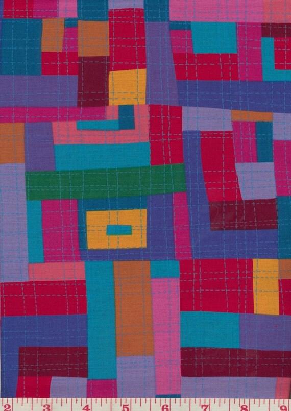 Japanese Fabric: Keiko Goke Log Cabin (3), Red, FQ