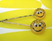 Have a Nice Hair Day - Happy face hair pins