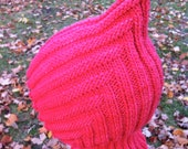 Knit Child Balaclava Hoodie Hat - CORALINE, Waldorf inspired, wool