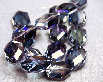 Crystal Lake II- faceted crystal beads
