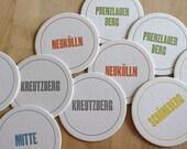 BERLIN Neighborhood Coasters (Pack of 10)