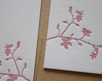 Spring Letterpress Wedding Invitation - Branch (Sample Set)