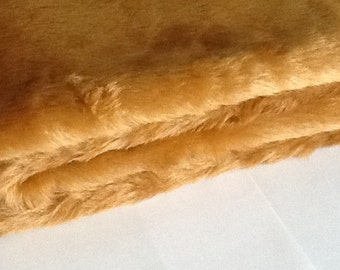 Faux FUR BUTTERSCOTCH  Fabric  1/2 yard