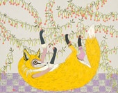 Sweetest Fruit - Limited Edition Giclee Fox Art Print