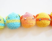 Pick 3-Colorful crochet toy/balls for hacky sack and juggling