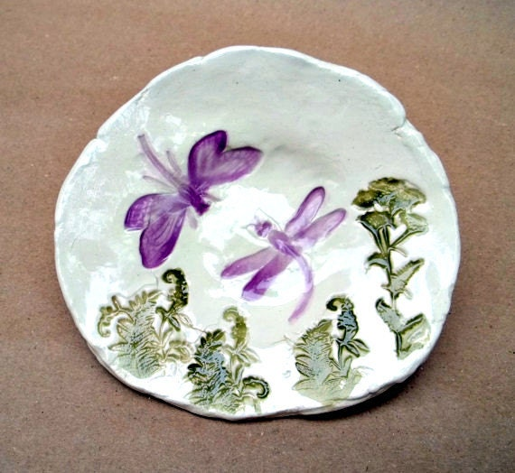 Ceramic Dragonfly Trinket Bowl