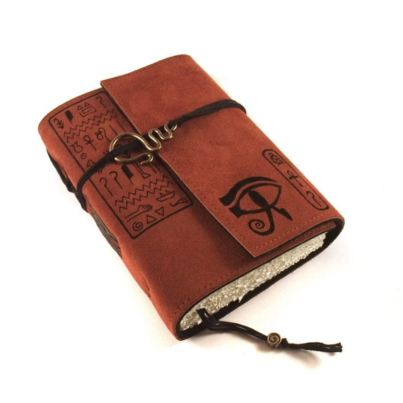 Leather journal, hand bound, Eye of Horus