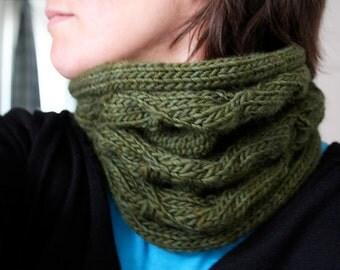Morning Glory cowl - knitting pattern - PDF file - NOT a finished item