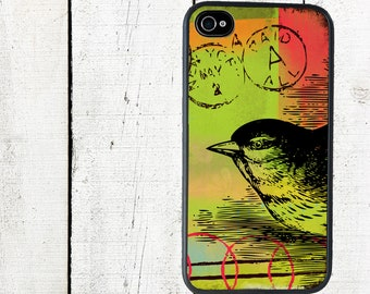iphone 6 case Green Bird Collage iPhone 4 Case, fits iPhone 4 and 4s, - iPhone 5 Case - Galaxy s3 s4 s5