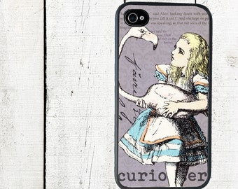 Alice in Wonderland Alice and Her Flamingo Phone Case