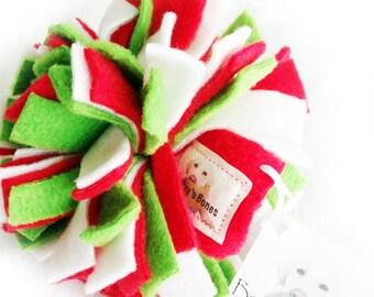 Fleece Dog Ball - Small - Merry Christmas